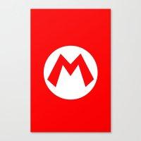 nintendo Canvas Prints featuring Nintendo Mario by JAGraphic