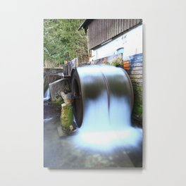 Old watermill in motion Metal Print