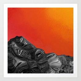 Burn Mountain (1) Art Print