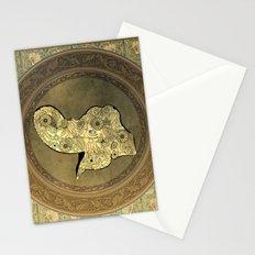 Wonderful mandala of elephant Stationery Cards