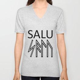 Salu - Runes Sacred Healing Word  Unisex V-Neck