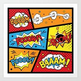 Baaam-Booom Art Print