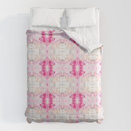 Minty Rose (Abstract Painting) Comforters