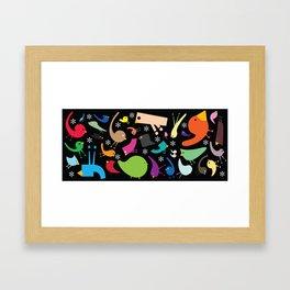 Jolly Jumble Framed Art Print