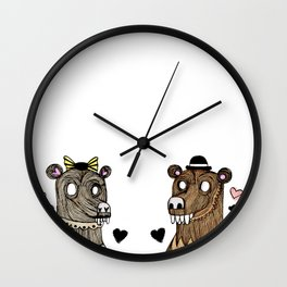 Bearly in love Wall Clock
