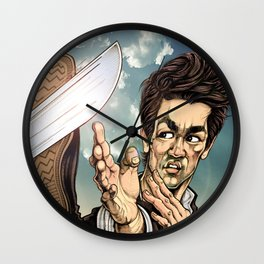 Wing Chun Knifes Wall Clock