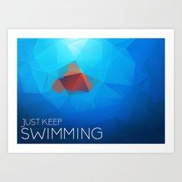 Nemo: Just Keep Swimming Art Print