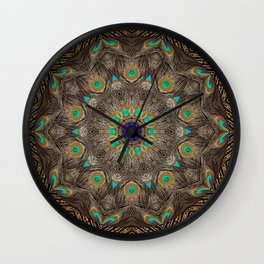 Peacock Mandala A232 Wall Clock