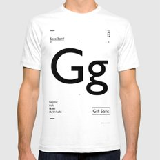 Gill Sans Mens Fitted Tee SMALL White