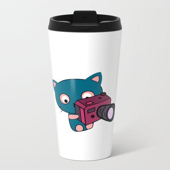 Photo kitty Metal Travel Mug