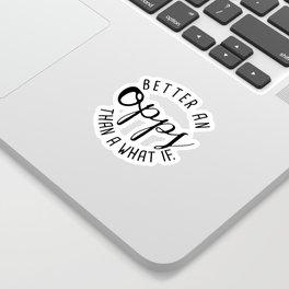 Opps Sticker