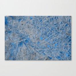 Blue Ice Texture Canvas Print