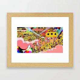 Psychedelic CityScape - Janzilker Framed Art Print