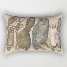 Naturalist Owls Rectangular Pillow