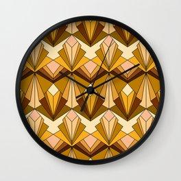 Art Deco meets the 70s Wall Clock