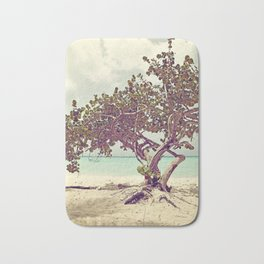 Ocean view with boats in the water Bath Mat