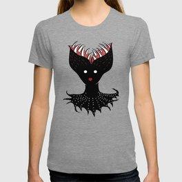 Creepy Demon Girl Has Opened Head With Teeth T-shirt