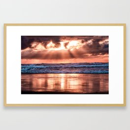 Northern California Sunset - Nature Photography Framed Art Print