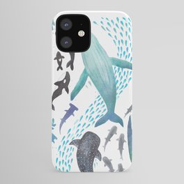 Sharks, Humpback Whales, Orcas & Turtles Ocean Play Print iPhone Case