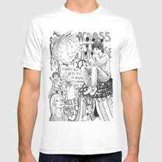 Across The Universe White SMALL Mens Fitted Tee