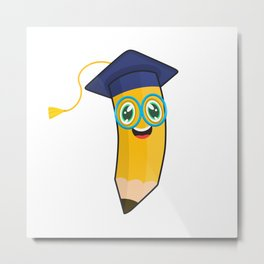School Graduation Pen Metal Print