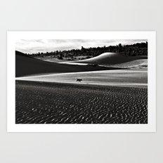 Walking alone through the desert of life Art Print