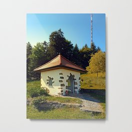 Small chapel up on the mountain Metal Print
