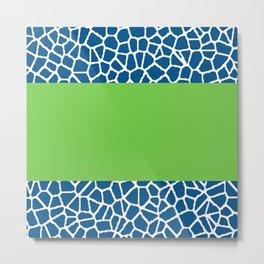 staklo (dark blue with green stripe) Metal Print