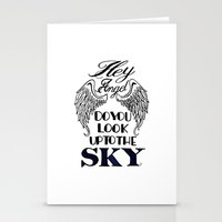 larry stylinson Stationery Cards featuring Hey Angel (Larry Stylinson) by Arabella