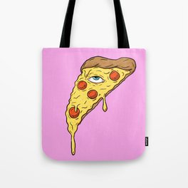 All Seeing Pizza Tote Bag