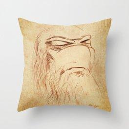 Leonardo's Self Portrait Throw Pillow