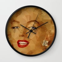 monroe Wall Clocks featuring Monroe by Ancello