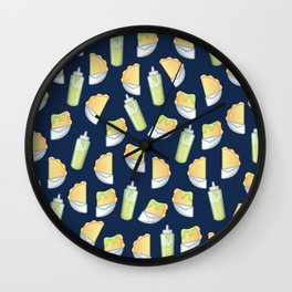 Pastelito con Salsita (Blue). Wall Clock