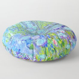 Water Lilies monet : Nympheas Floor Pillow