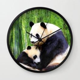 Panda-love Wall Clock