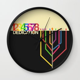 Dedication (8 Days) Wall Clock