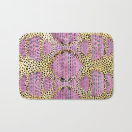Pink Spotted Cheetahs Bath Mat
