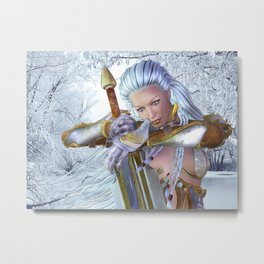 Frozen in thought Metal Print