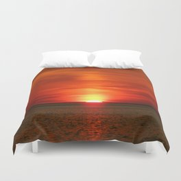 Sunset at Race Point  Duvet Cover