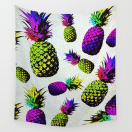 colorful pineapple pattren Wall Tapestry