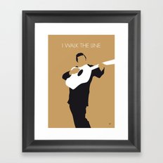 No010 MY Johnny Cash Minimal Music poster Framed Art Print