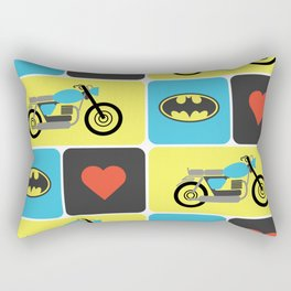 The Bike & The Bat Rectangular Pillow