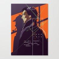 movie poster Canvas Prints featuring Sherlock - alternative movie poster by FourteenLab