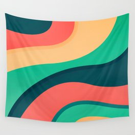The river, abstract painting Wall Tapestry