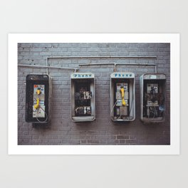Broken phones Art Print