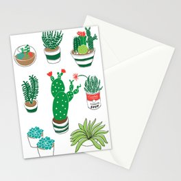 Illustrated Cactii Stationery Cards