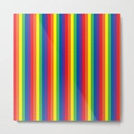 Rainbow pattern thicker stripes Metal Print