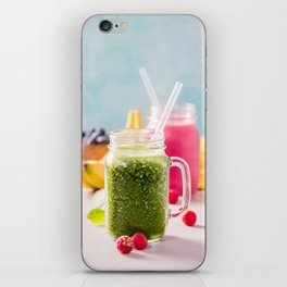 fresh smoothie with fruits and berries iPhone Skin