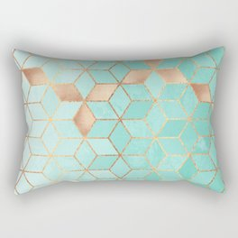 Soft Gradient Aquamarine Rectangular Pillow