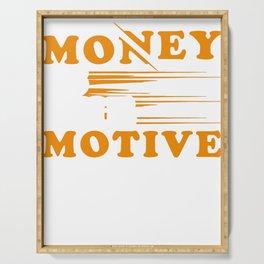 Money Monets Gift Charcoal Taler Dough Penunze Serving Tray